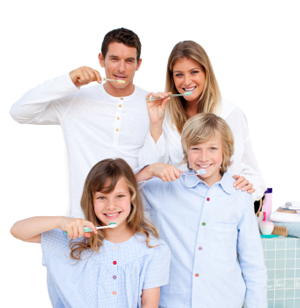 Families who brush together have fewer dental caries